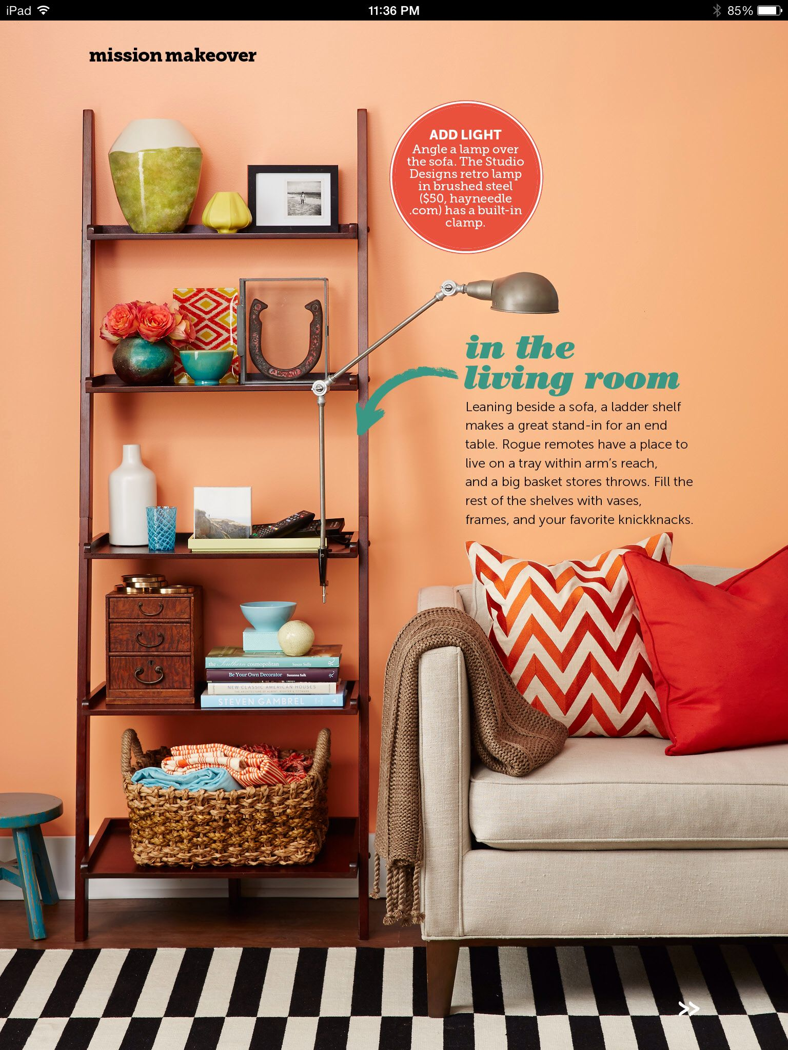 Clip Lamp On Bookshelf Living Room Goals Bookshelves Bookcase Sofa Tables Rugs