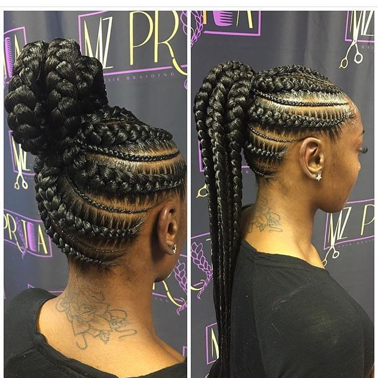Loving This Ponytail Braid Style Mzpritea Natural Hair Styles Hair Styles African Braids Hairstyles
