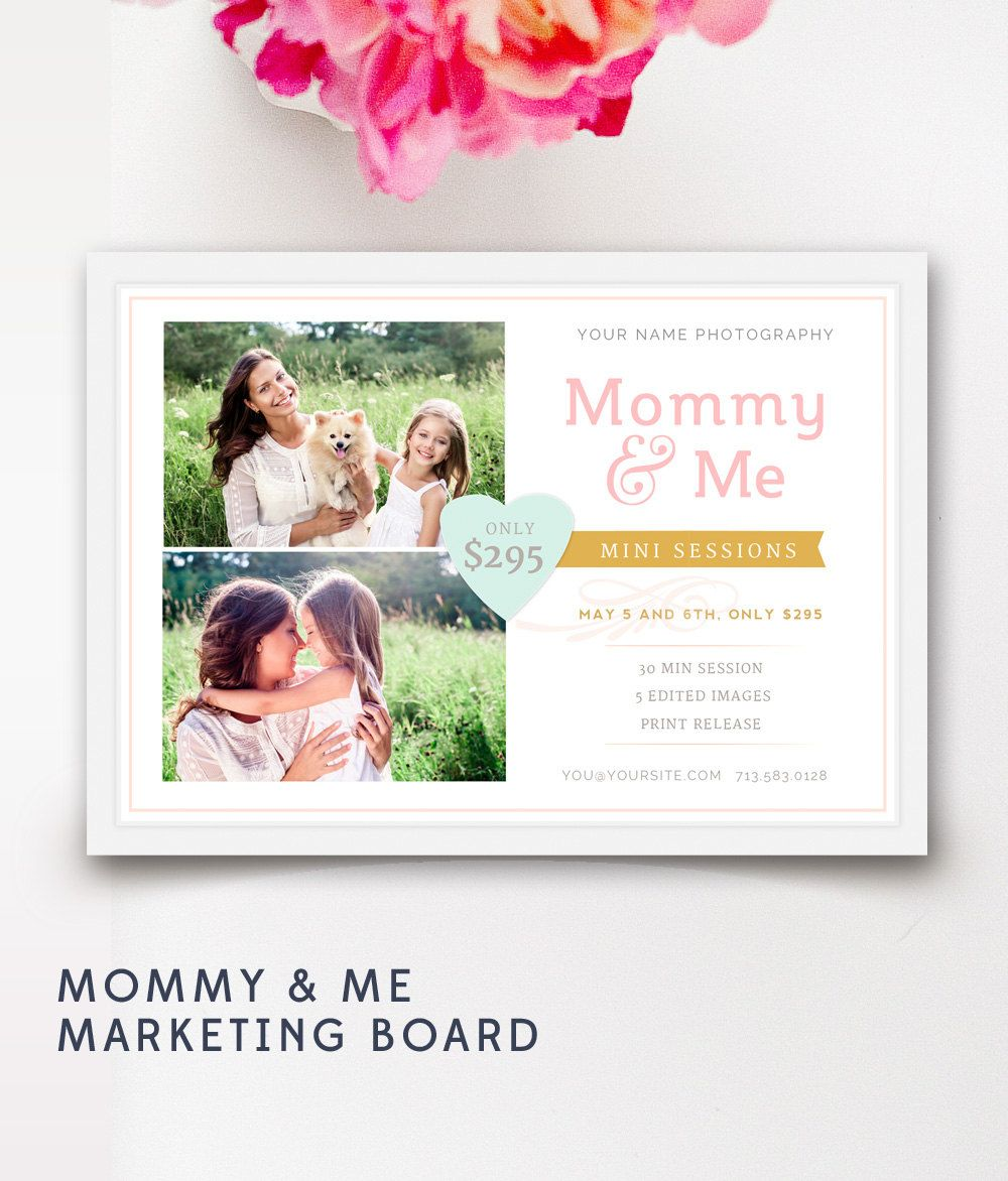 Mothers Day Mini Session  Mommy and Me Marketing Template  Mothers