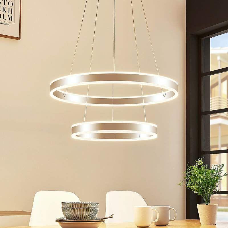 Led Hanglamp Lyani 2 Ringen Onder Elkaar Hanglamp Led Binnenverlichting