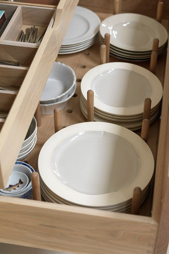 Brilliant Use For Deep Kitchen Drawers Plate Storage That S