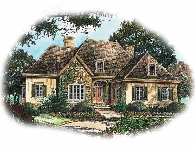 grab fresh high quality small french country house plans french country cottage house plans concepts from virginia coleman to upgrade your dwelling - 1 Story French Country House Plans
