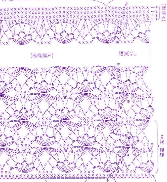 Pattern And Crochet Edging Afs 7413 Crochet Pinterest