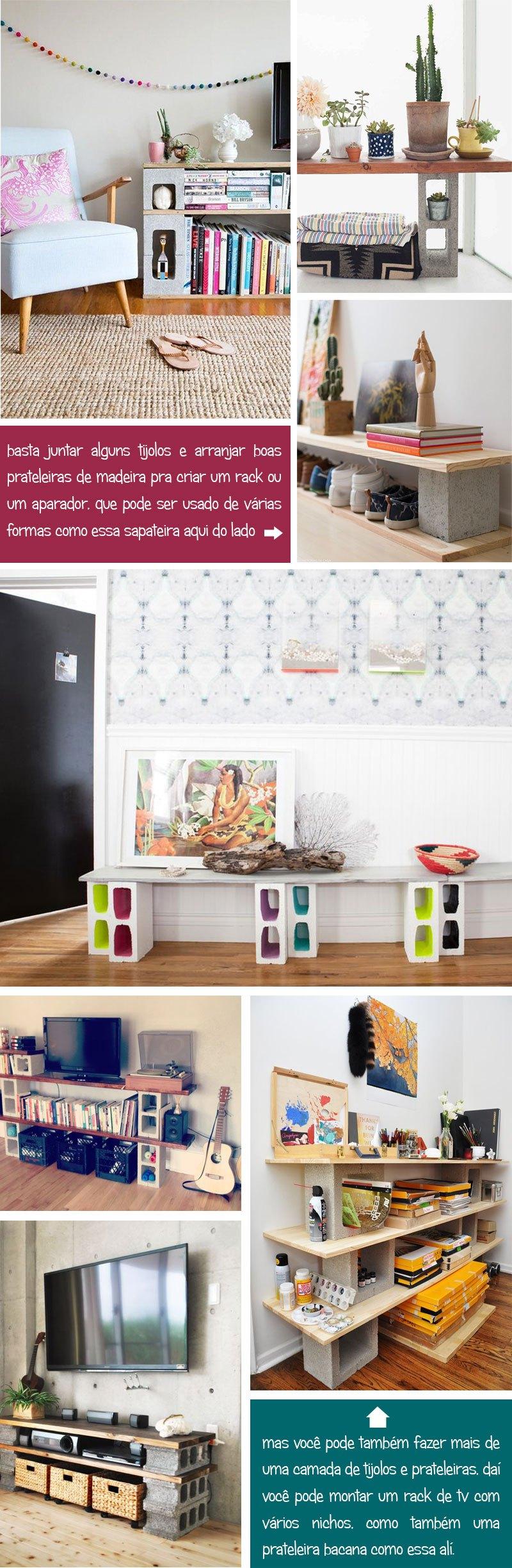 Chocolate Notebooks Cadernos Artesanais Cinder Block Furniture  -> Sala De Tv Improvisada