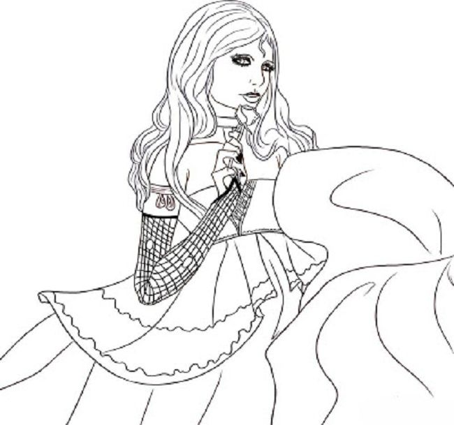 Coloring Pages Girls Vampires Princess Coloring Pages Coloring