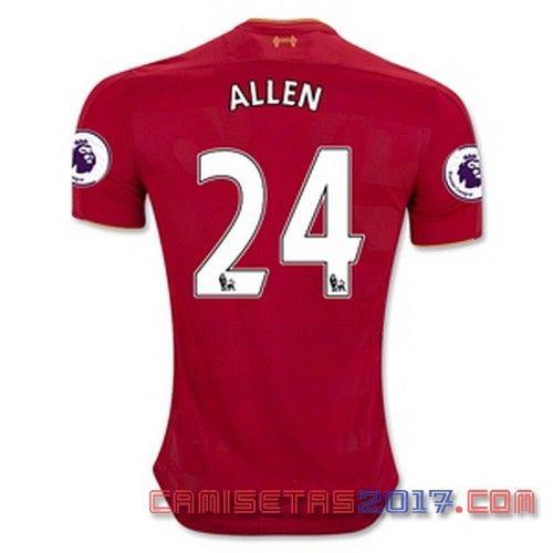 Camiseta ALLEN Liverpool 2016 2017 primera  5c8bef7e9abee