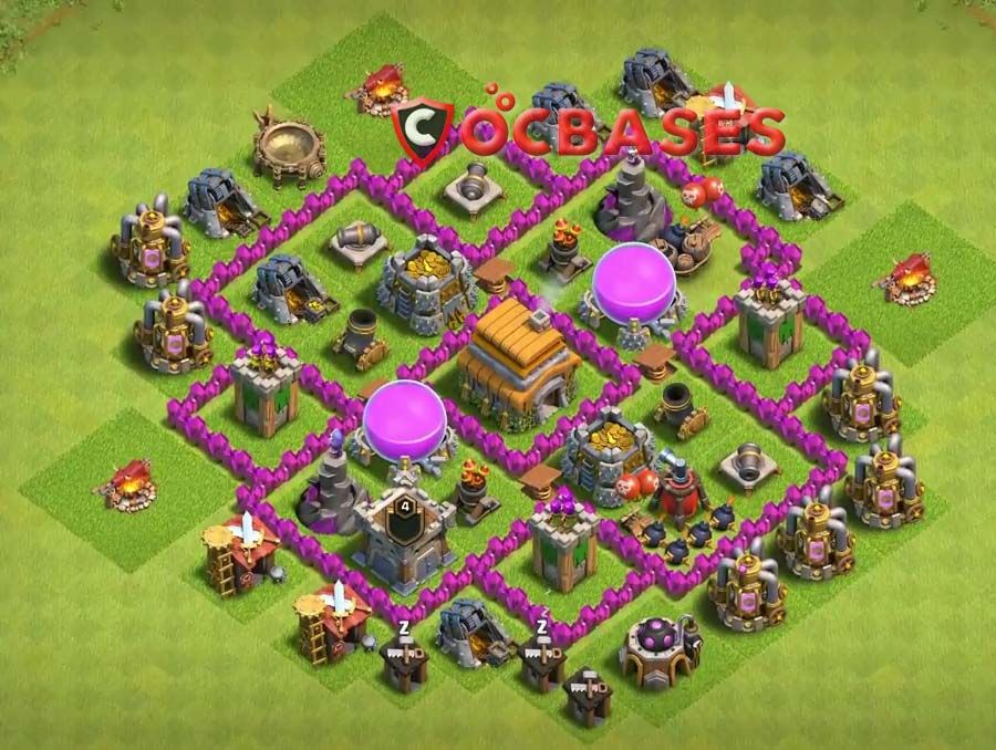 Coc Th 6 Base Layout 9