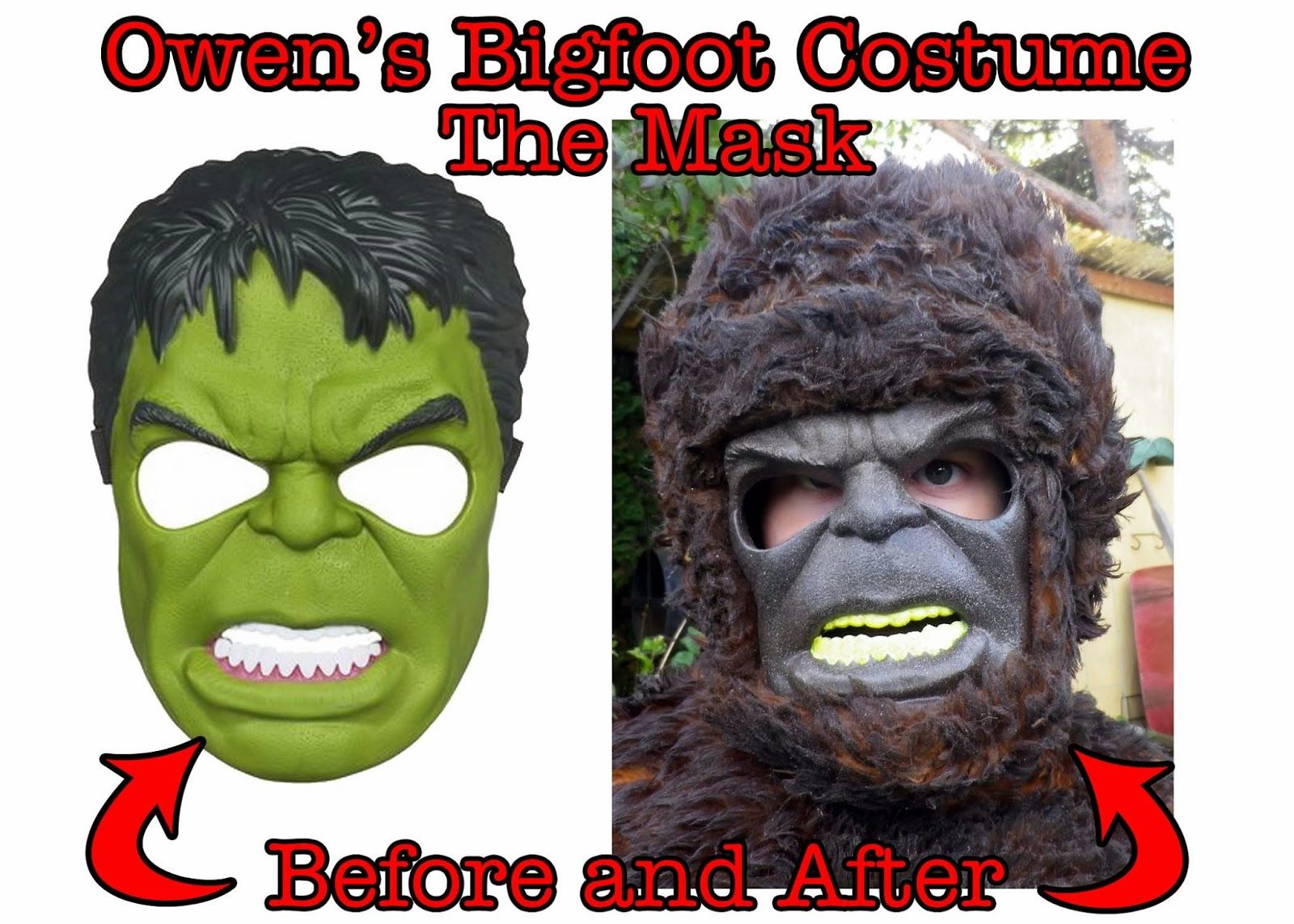 Cards by CG: DIY Bigfoot Costume for a Bigfoot Fanatic ...