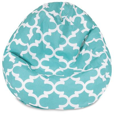 Trellis Bean Bag Chair Upholstery Teal