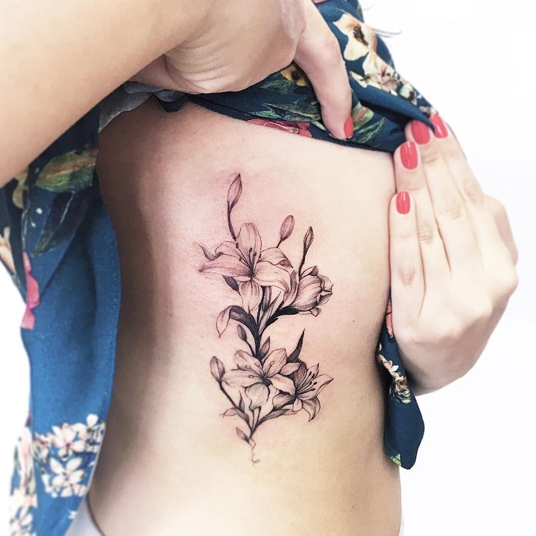 Floral rib cage piece.
