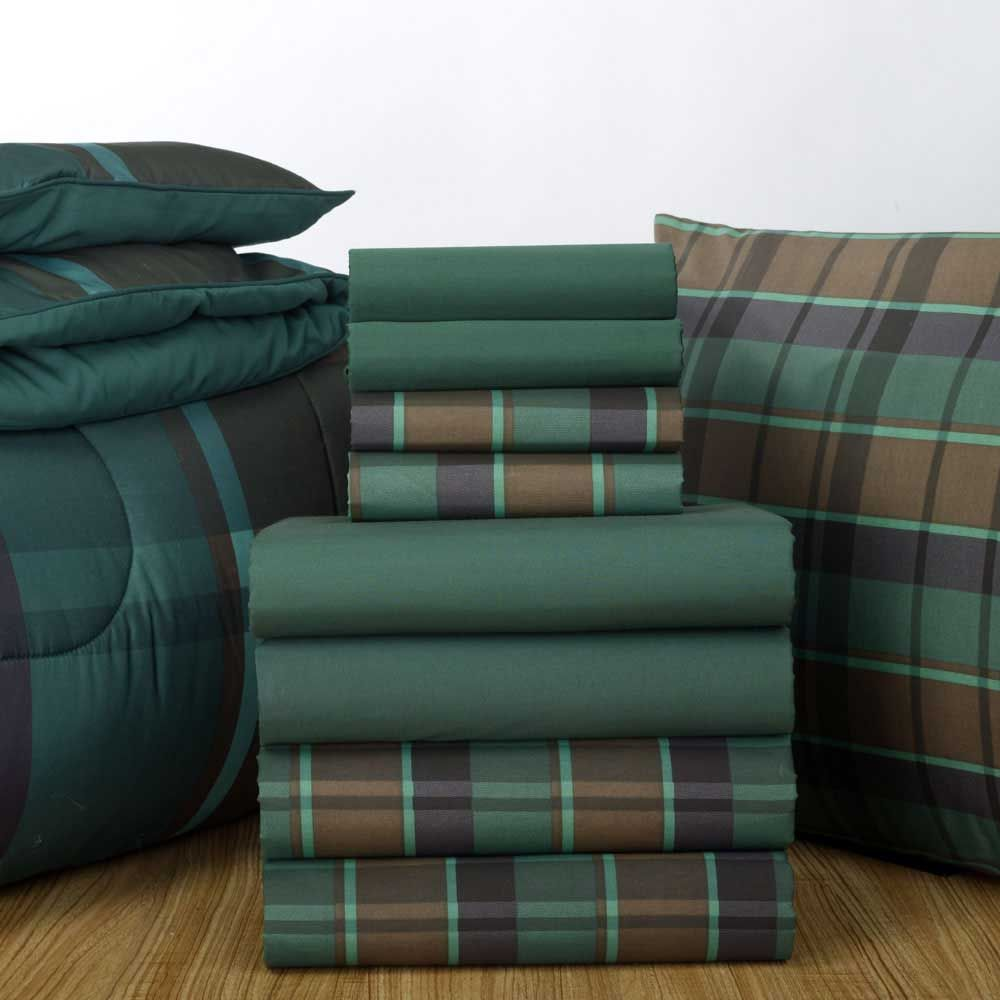 hunter sheets and hunter hampton plaid comforter find this sheet set and patterned comforter in - Plaid Comforter