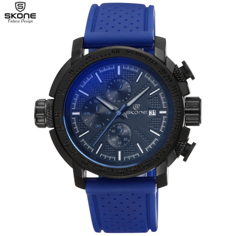 21.99$  Buy now - http://aliubx.shopchina.info/go.php?t=32796807694 - Skone Luxury Brand Dress Watches Men Silicone Band Wristwatch Business Quartz Watch Fashion Men's Watches Relojes Orologio Uomo 21.99$ #shopstyle
