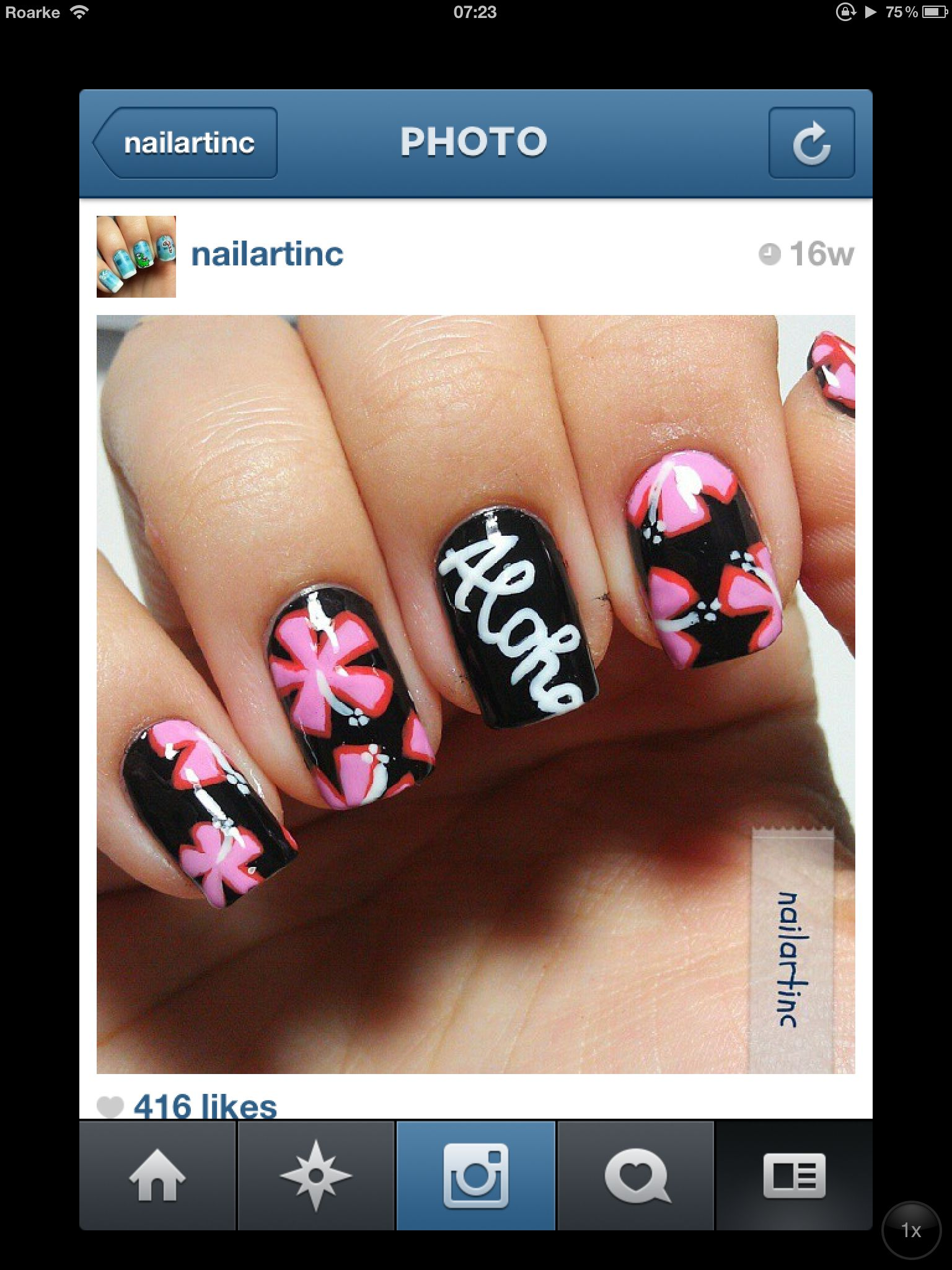 Hawaiian nail art - Hawaiian Nail Art TOO CUTE COLORZ & NAIL DESIGNZ!!!! Pinterest