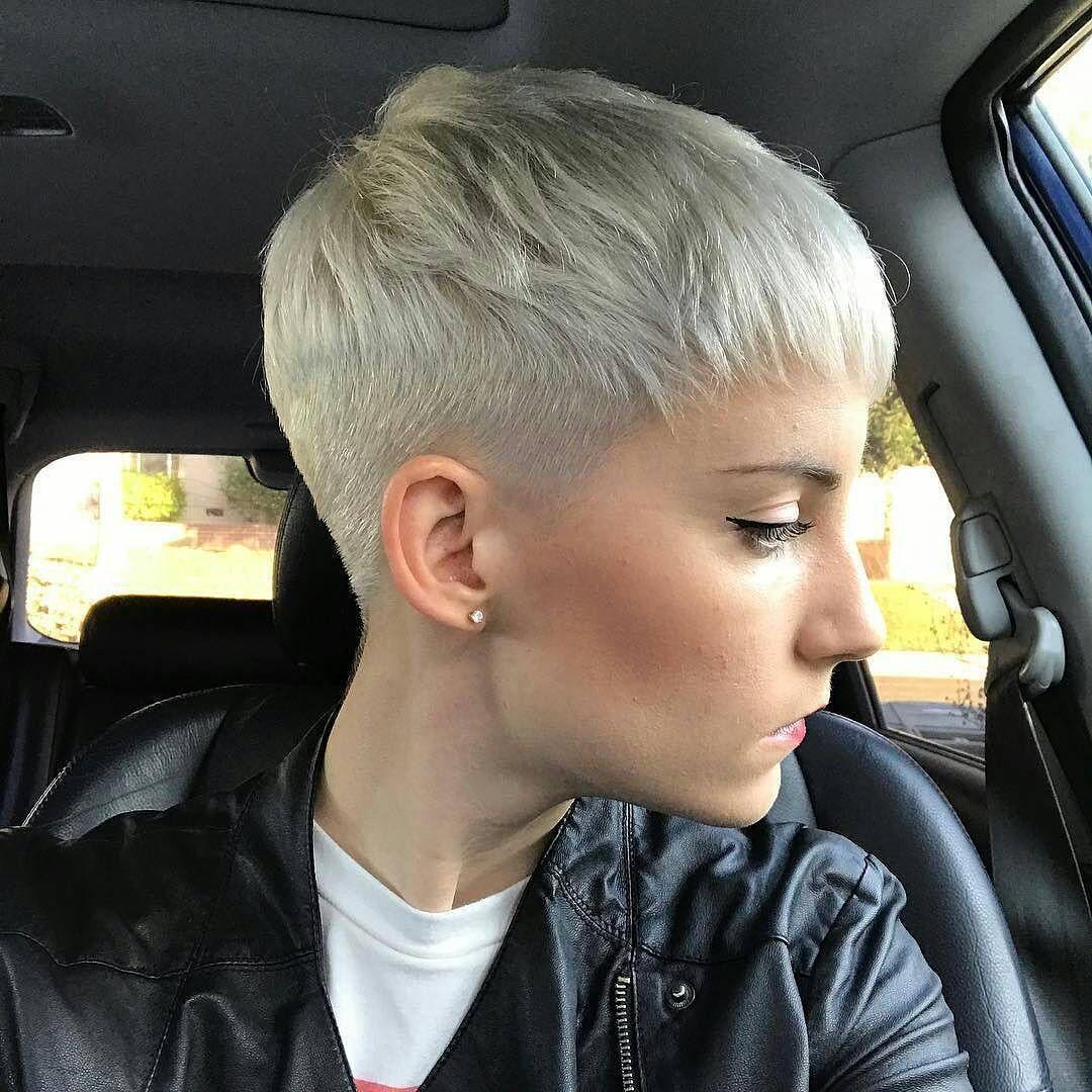 Close-Cropped Platinum-Blonde Pixie Cut | Pixie Cuts ...