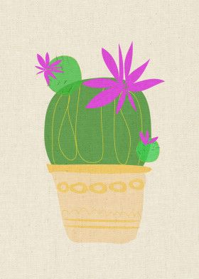 The Blooming Cactus | Displate thumbnail