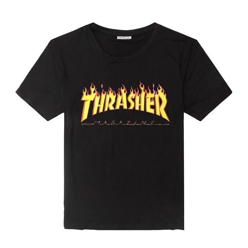 채찍질 t 셔츠 남성 여성 스케이트 티 짧은 소매 스케이트 티셔츠 힙합 tshirt 옴므 남자 trasher t 셔츠