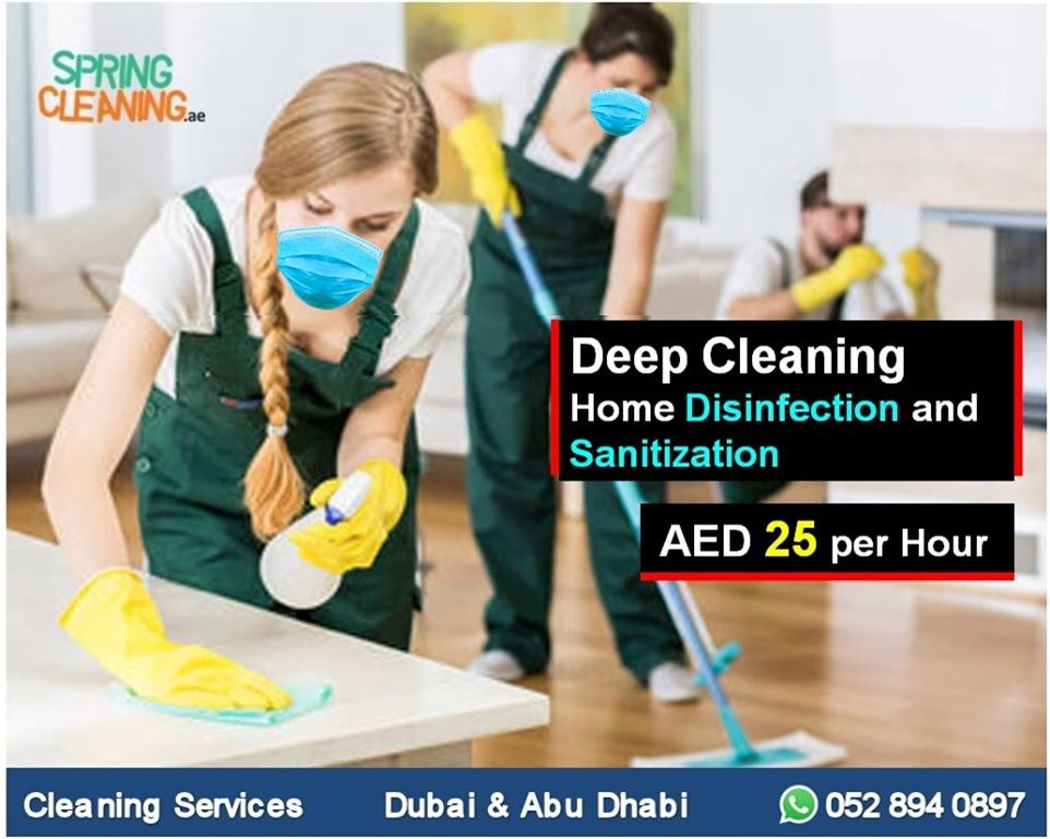 Home Office Disinfectinn Deep Cleaning And Sanitization Uae In 2020 Move In Cleaning Maid Service Cleaning Companies