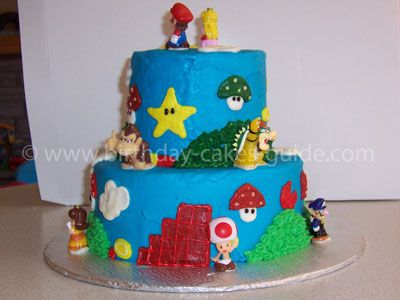 easy mario cakes of icing over the top of the cake and turn the