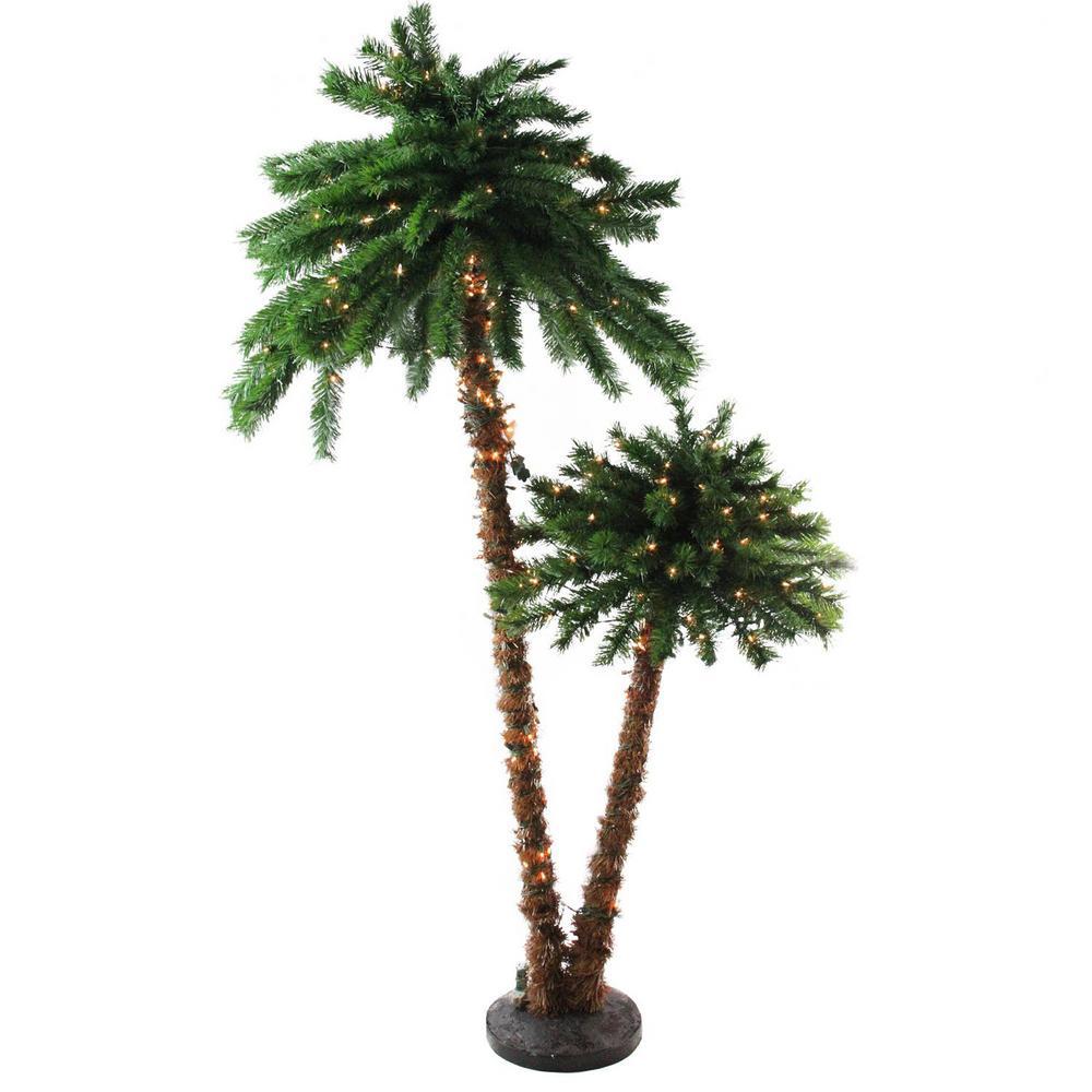 Northlight 6 Ft Pre Lit Tropical Palm Tree Artificial Christmas