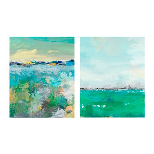 TVILLING Poster, set of 2, horizon | Living rooms, Green furniture ...