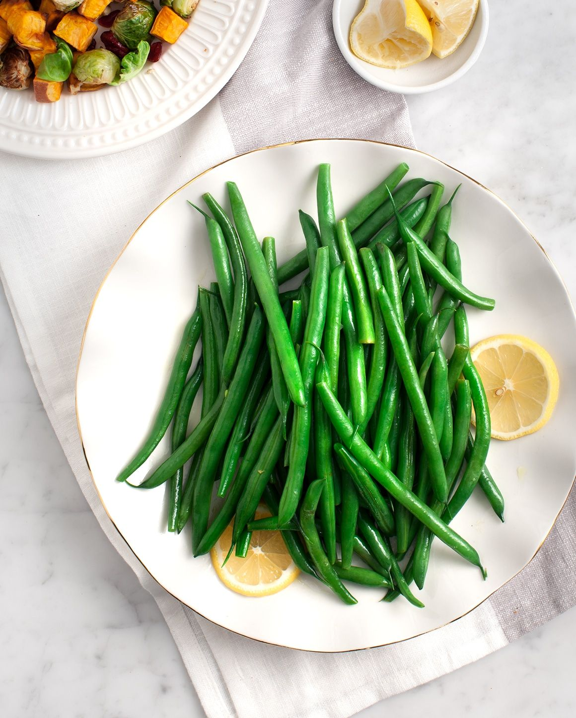 Simple Lemon Green Beans #thanksgivingrecipessidedishes