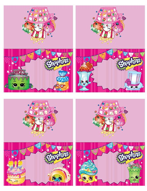 picture relating to Shopkins Birthday Card Printable titled Shopkins Foodstuff Tent Playing cards-Instantaneous Down load-Printable Shopkins