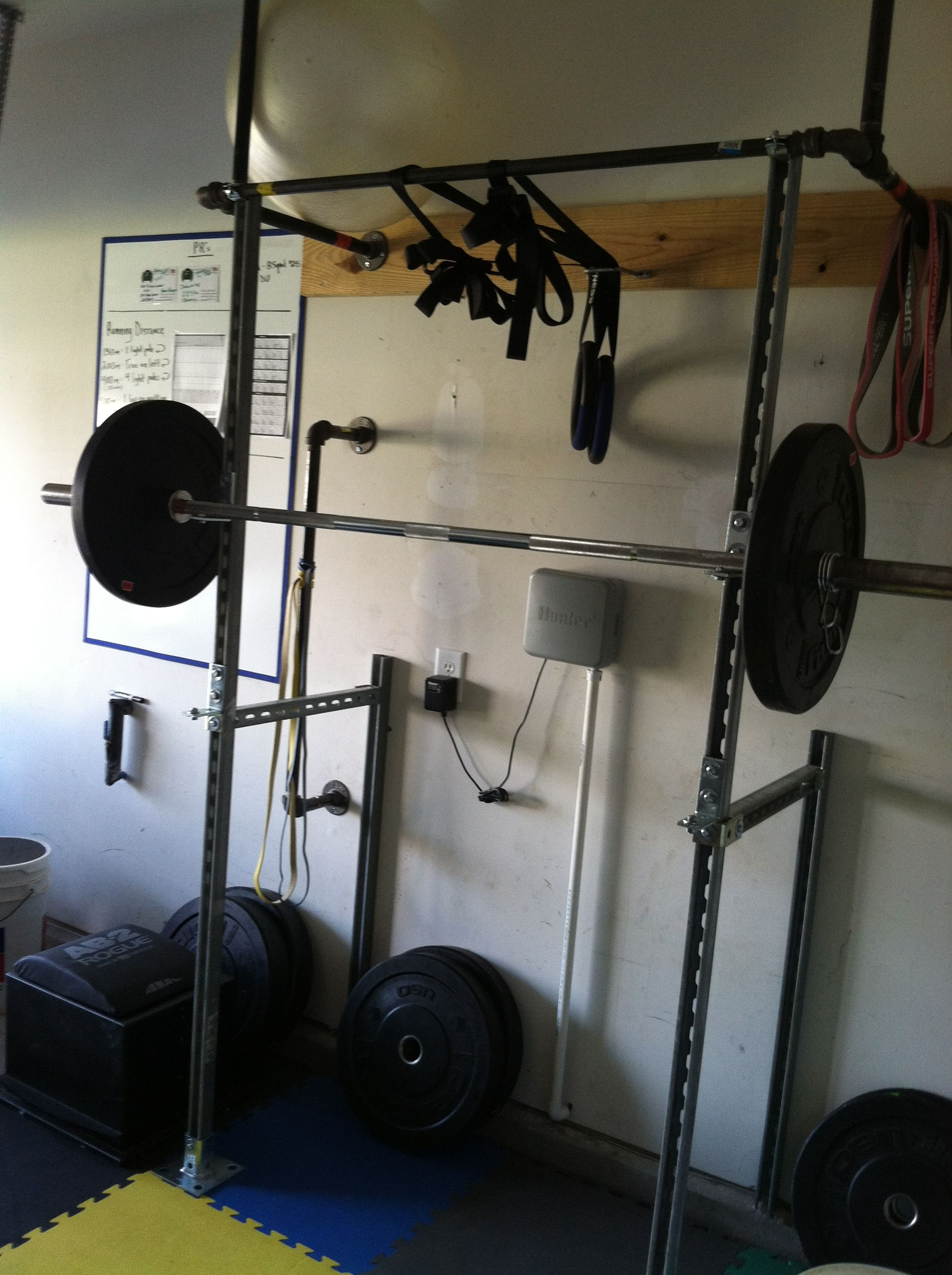 Home Gym Homemade Unistrut Squat Rack Http Amzn To