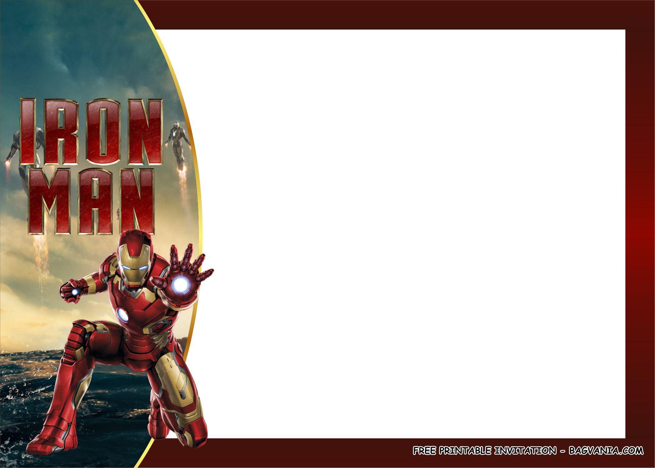FREE PRINTABLE) - Iron Man Birthday Party Kits Template  Iron man