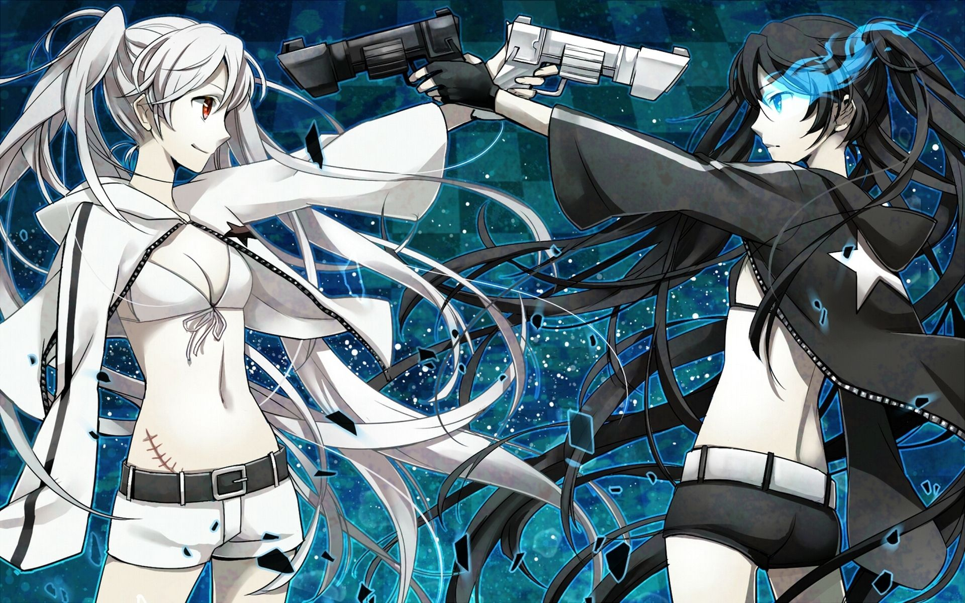 anime black rock shooter white rock shooter wallpaper