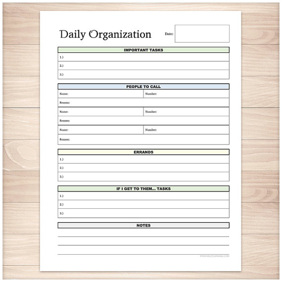 graphic about Daily Work Sheet identified as Printable Day-to-day Job Sheet - Complete web page organizer - Contemporary and