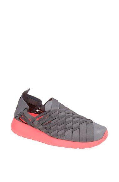 6ec3da047a39 Nike  Roshe Run Woven 2.0  Sneaker (Women) Cool Grey  Crimson Size 11 M -   90 on Vein - getvein.com