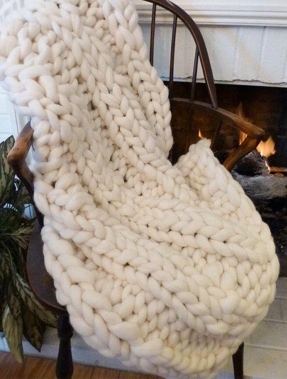 Knit Kit Jumbo Yarn Diychunky Blanket 24 Giant Needles 5