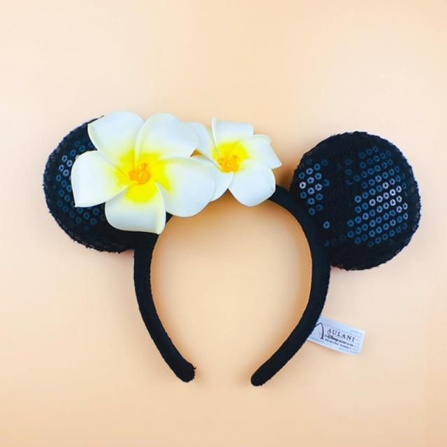 Photo of Disney Headband Minnie Ears For Women Mermaid Ariel Headdress Cartoon Anime Disneyland Mickey Mouse Bow Sequins Hair Hoop – G
