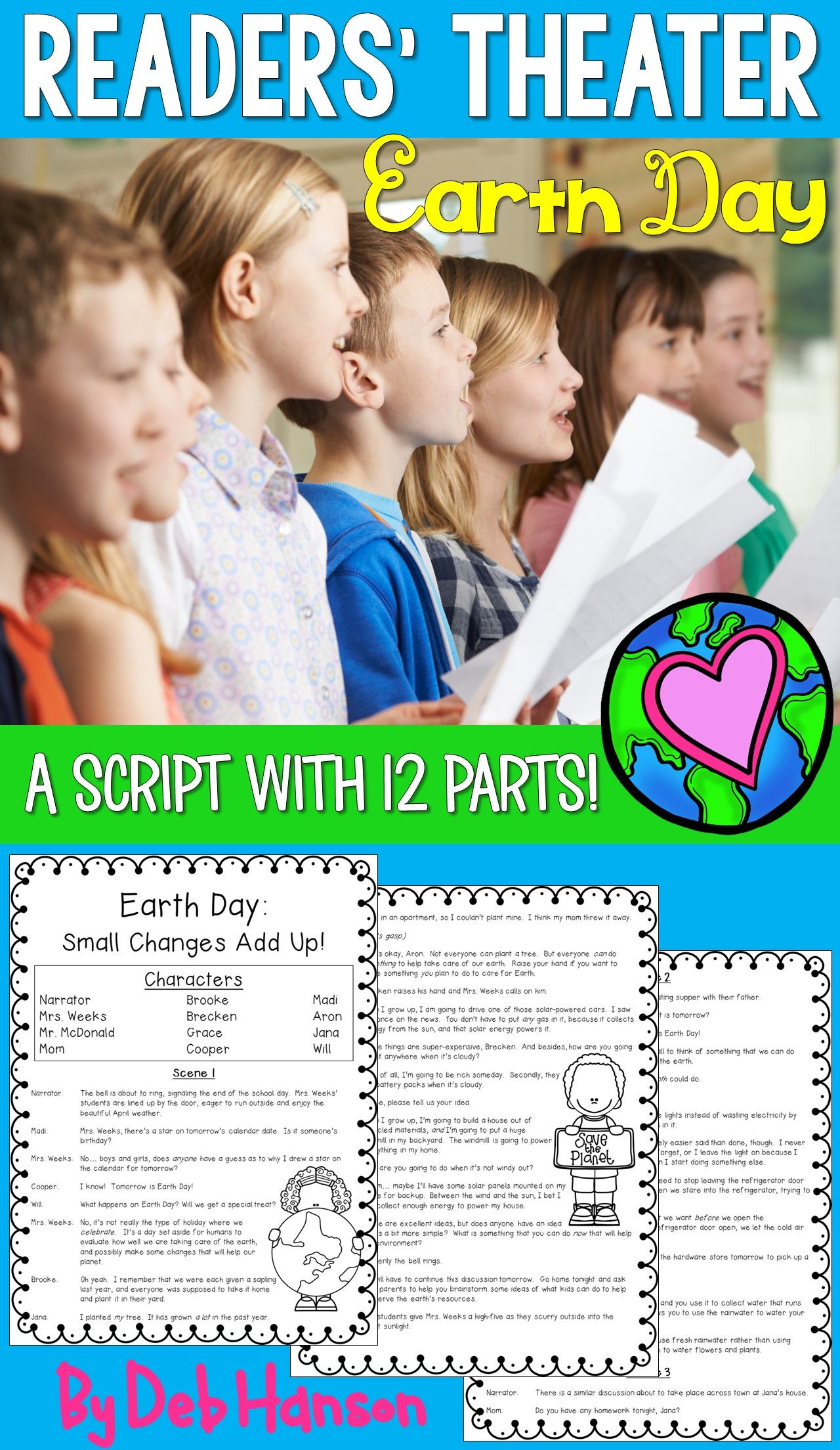 Earth Day Readers Theater Script 12 Parts Reading