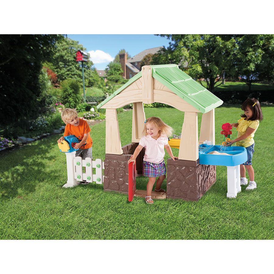 little tikes deluxe home and garden playhouse toys