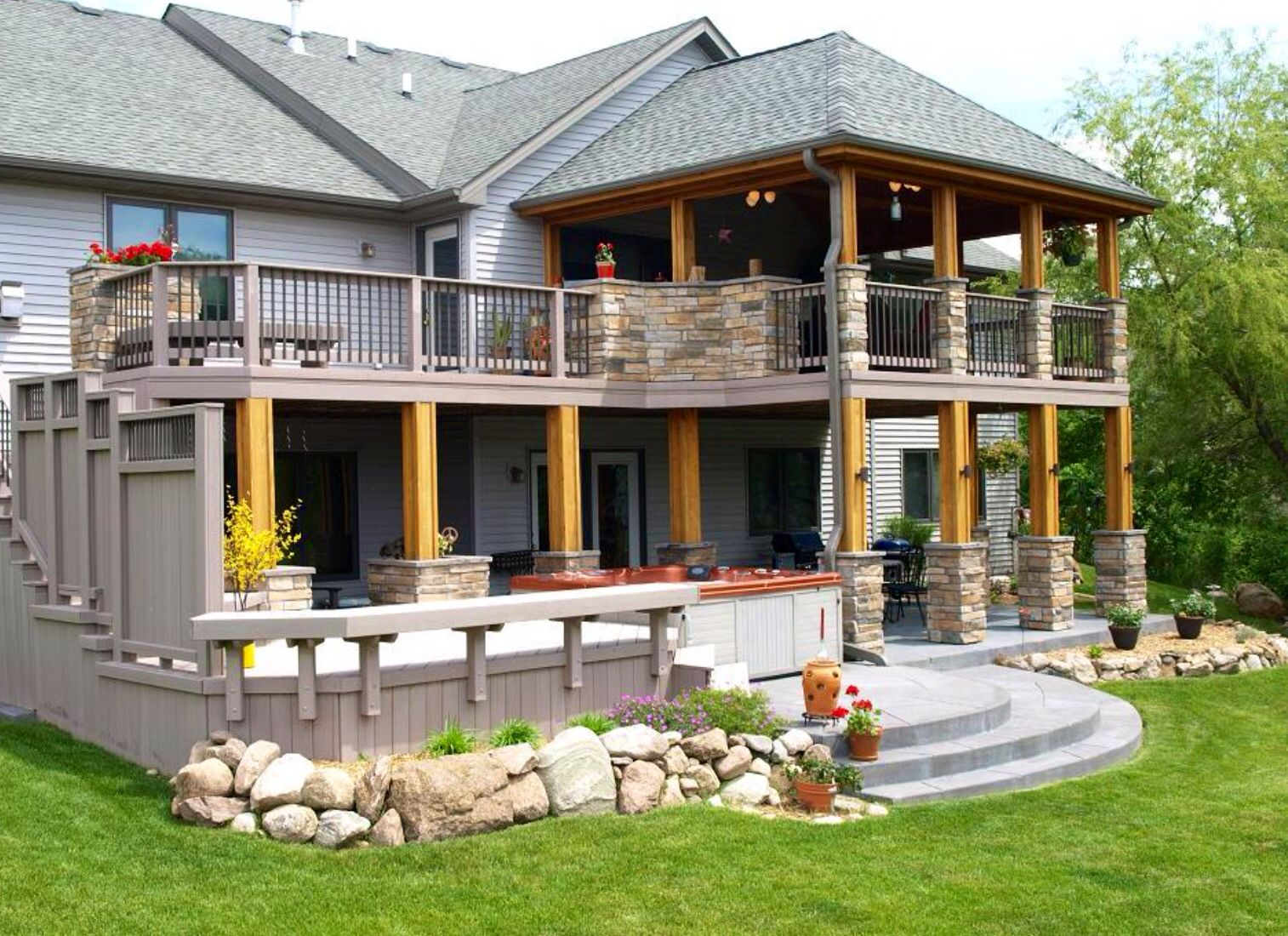 Pin By Jason Holmes On Decks House Deck Decks And Porches House With Porch
