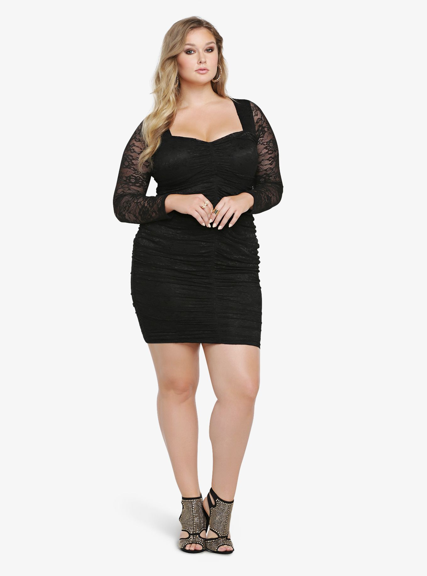 Lace dress torrid  Shirred Lace Bodycon Dress  Torrid Bodycon dress and Spring summer