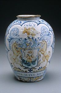 """Title:  """"Apothecary Pot"""" or Apothecary Jar Date:  1663 Place:  London (England)"""