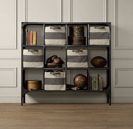 Foundry Metal Cubby System Wide Bookcases Amp Storage
