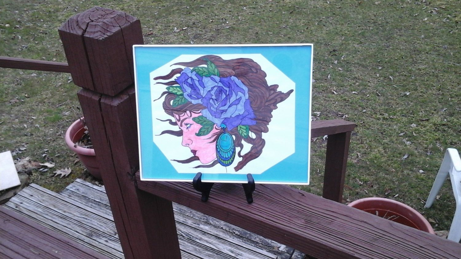 woman in the wind by WickedHarvest on Etsy