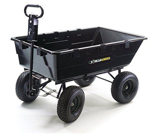 Utility Cart Wagon Yard Garden Steel Heavy Duty Farm Trailer Dump Carts Gorilla