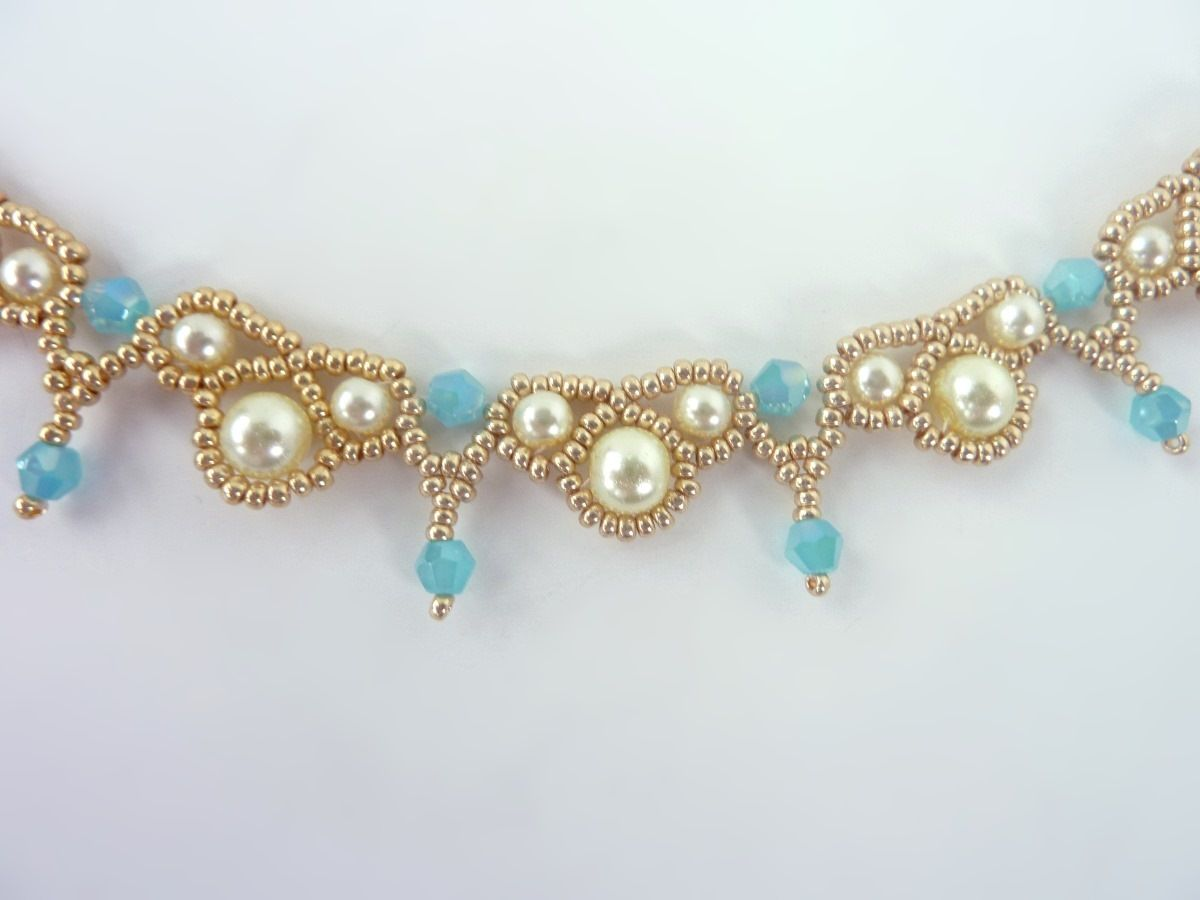 Photo of FREE beading pattern for Palace Pearls necklace   BeadDiagrams.com