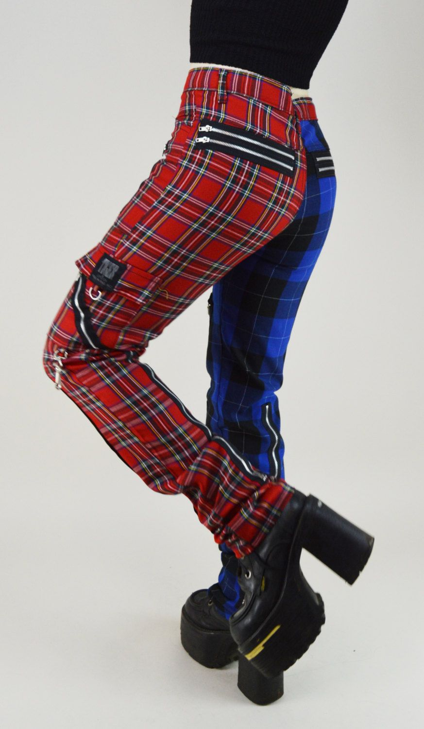73ab09beee Vintage Tiger of London Blue & Red Tartan Trousers | I like clothes ...