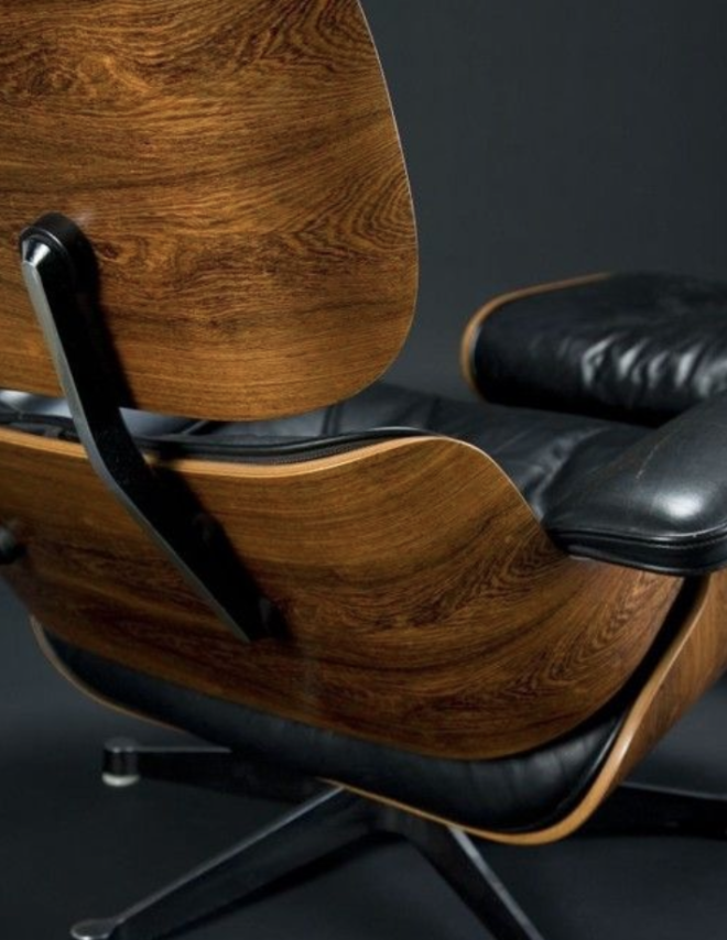 Eames lounge chair schwarz eames for Designklassiker replica