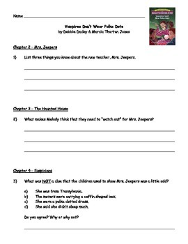Vampires Don T Wear Polka Dots Guided Reading Packet Guided