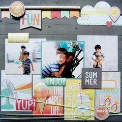 Project Ideas for Simple Stories - Summer Vibes Collection - 12 x 12 Double Sided Paper - 2 x 2 and 6 x 8 Elements