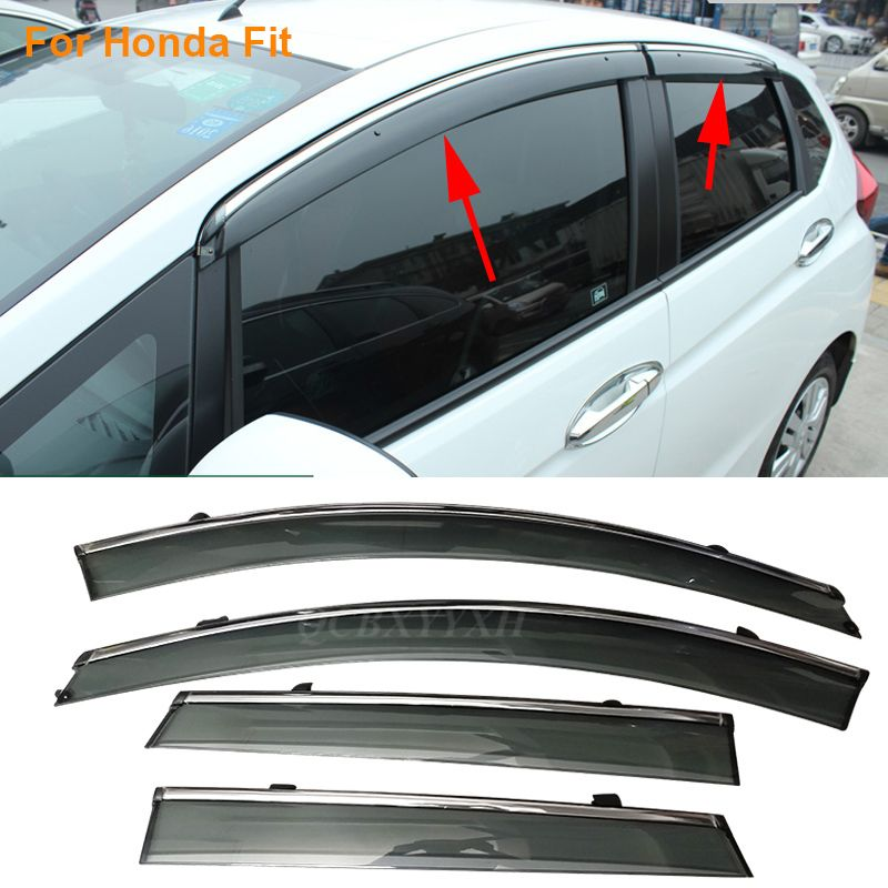 Car Stylingg Awnings Shelters 4pcs/lot Window Visors For