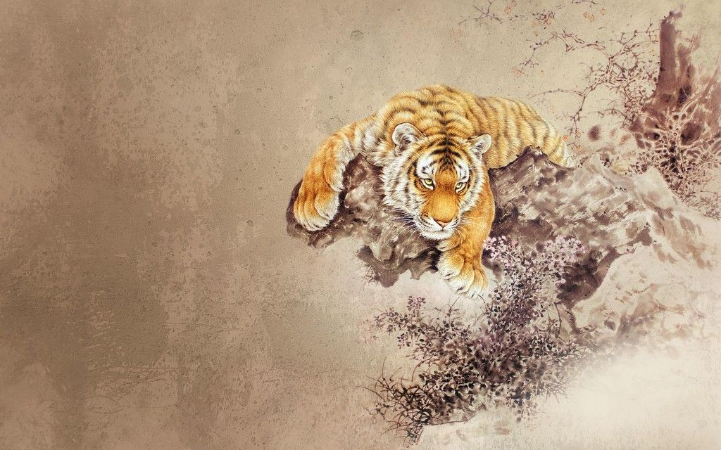 Japanese Tiger Wallpaper Tattoo Pinterest Tiger Drawing Tiger