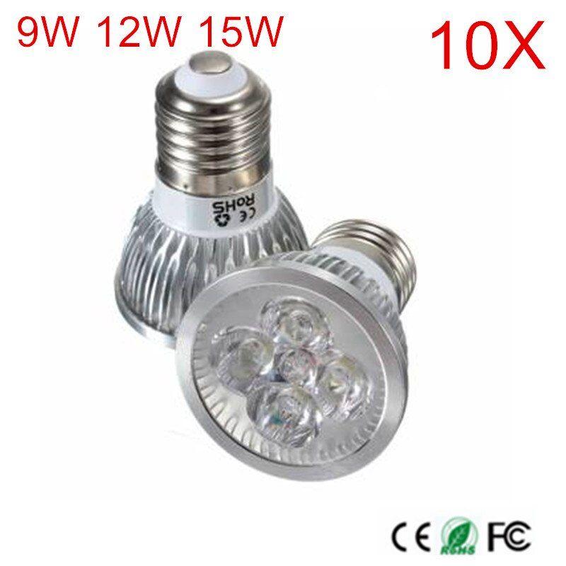 10pcs High Power E27 Cob Led Spotlight 9w 12w 15w Ac110v 220v Cob Led Spot Light Bulb Lamp Cool White Warm White Bulb Lamp Light Bulb Lamp Led Spotlight Bulb