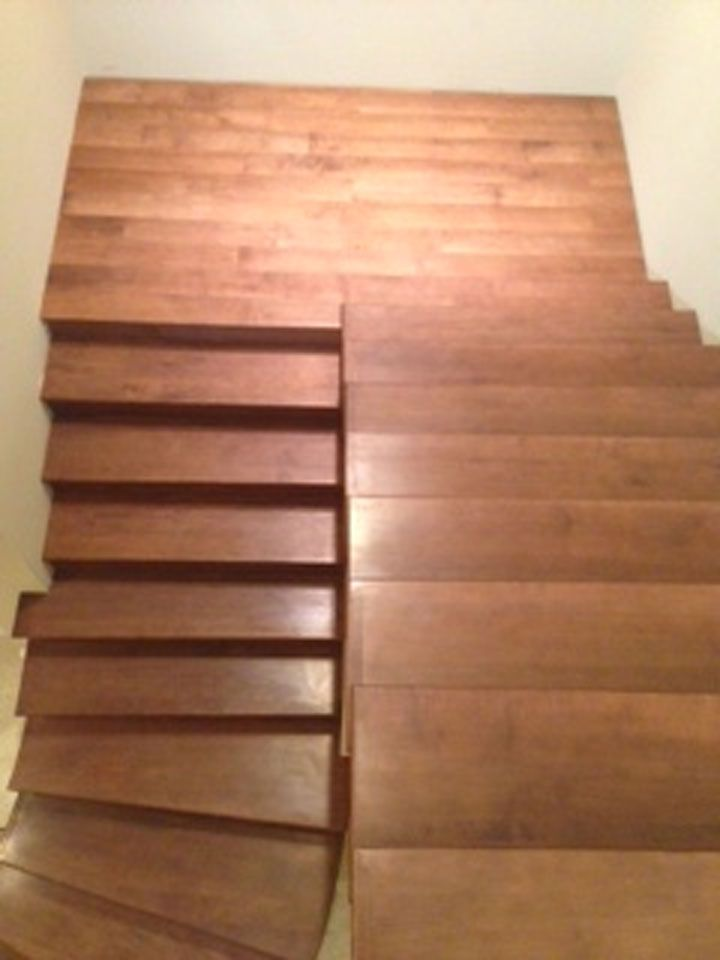 Hard Maple Wood Stair Tread The Face Of Your Hard Maple Stair   Prefinished Maple Stair Treads   Unfinished Maple   Hardwood Flooring   Prefinished Natural   Natural Maple   Hard Maple